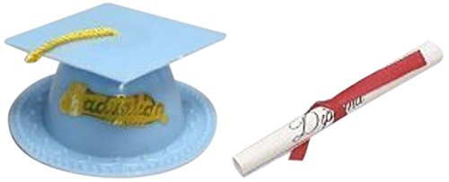 Oasis Supply Graduation Cap Cake Topper with Diploma, Light -