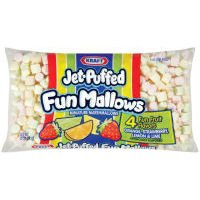 Kraft Jet Puffed Funmallows Colored Mini Marshmallows, 10 Ounce - 16 per case. by Jet-Puffed