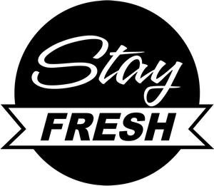 Decal Fresh (stickout_stickers STAY FRESH JDM EURO CLEAN LOWERED STANCED ILLEST WINDOW STICKER VINYL DECAL)