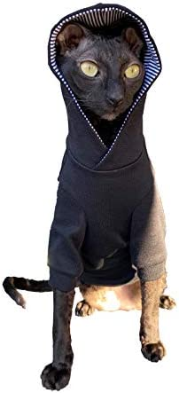Kotomoda Sphynx Cat's Hoodie InBlack Naked Cat Hairless Cat Clothes 20