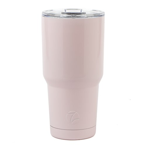 Manna 30oz Maverick Tumbler Double Wall Vacuum Insulated Stainless Steel w/ Unbreakable Tritan Flip Top Lid | BPA & Lead-Free | No Sweat | Keeps Liquid Cold for 18 Hours & Hot for 8 hours - Light Pink
