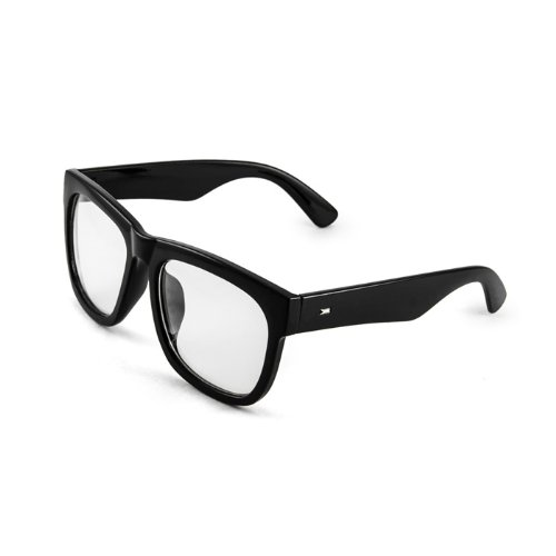 Black Bold Square Glasses Bold Thick Frame Clear Lens Men - And Glasses Clear Black Frames