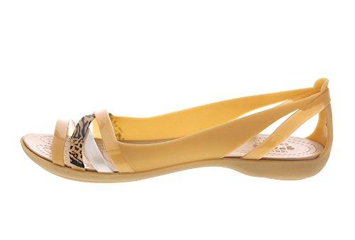 Flat Gold Crocs Isabella Dark Graphic Huarache qwxgHxCFn