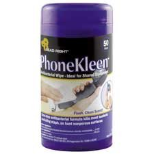 Phonekleen Wet Wipes Cloth (Read Right PhoneKleen Wet Wipes, Cloth, 5 x 5, 18/Box, BX - REARR1203 )