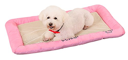 Pet Dog Cooling Mat,Pets Cool Bed,Cat House Ice Pad,Chilly Ice Cooler Bed for Dogs Pets Puppy,Cushion Mat Cold Pillow Beds,Cats Coolmat Pads for Kennels, Crates and Beds Summer