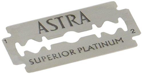 Price comparison product image Astra Superior Platinum Double Edge Shaving Razor Blades 100 Pcs Barber Favored