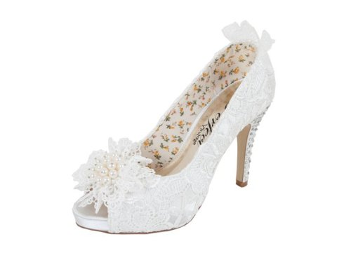 Flo Ivory Wedding Shoes By Perfect Bridal Shoes - Size 7 5mVPLDFTKa
