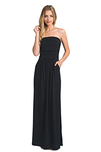 - Vanilla Bay Solid Maxi Dress,Large,Black