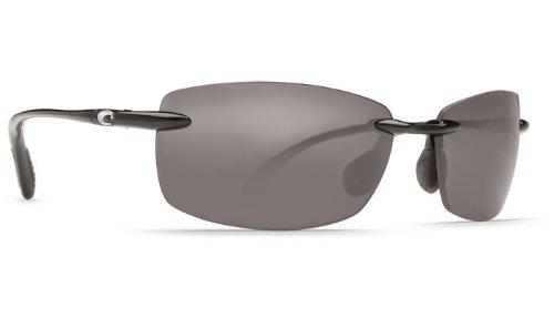 Costa Del Mar Ballast Sunglasses - Black Frame Color with Gray 580P (Plastic) - Del Mar Color Costa Lense