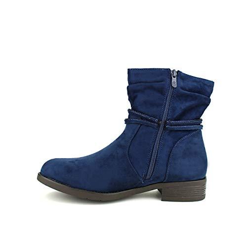 Femme Aime Bottines Chaussures Bleu Bo Bleues Cendriyon fv7Tw