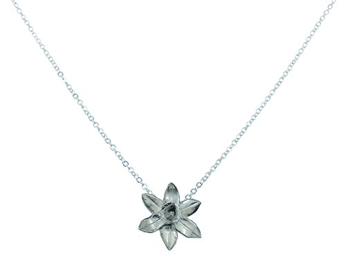 10th Anniversary Flower Daffodil Pendant - Made from 100% Pure Tin