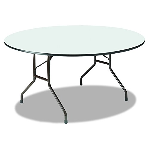 Iceberg ICE55267 Round Premium Wood Laminate Folding Table, 60