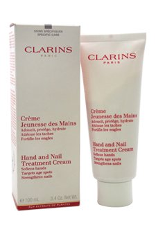 - Clarins Clarins hand and nail treatment cream, 3.4 oz