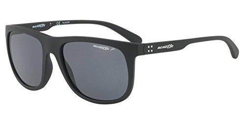 Polarized Sunglasses For Men Arnette Sport AN4235 01/81 56mm Crooked Grind Matte Black - Aviators Arnette