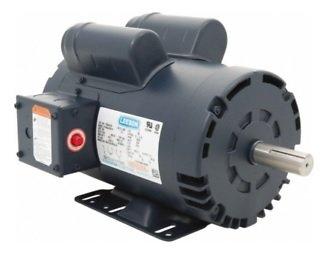 New Leeson Electric Motor 5hp 1ph 230Volt 145T 3450 rpm 7/8