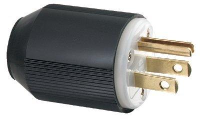 15 AMP BLK Plug Industrial Grade AUTO Grip (46 Pack)