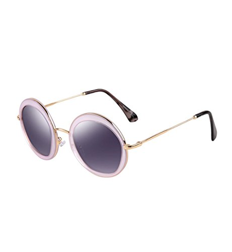 Parsons Mirror - Parsons Ms. retro fashion sunglasses polarized sunglasses driver drove driving mirror tide(Light pink)