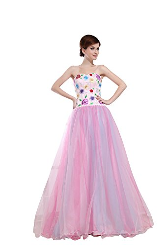 Vogue007 Womens Sweetheart Pongee Satin Tulle Formal Dress, ColorCards, 16 by Unknown