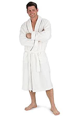 Fishers Finery Men's EcoFabric Resort Terry Robe; Full Length (S/M)
