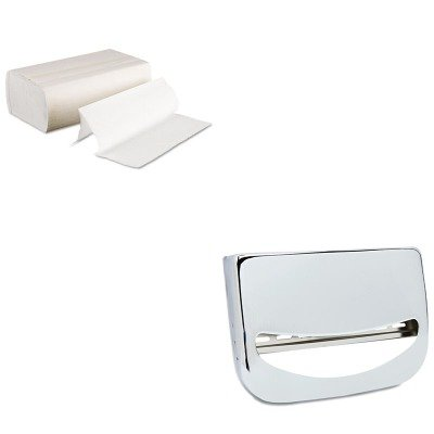 KITBWK6200BWKKD200 - Value Kit - Stainless Steel Toilet Seat Cover Dispenser (BWKKD200) and Boardwalk 6200 Multi-Fold Paper Towels, Bleached (BWK6200)