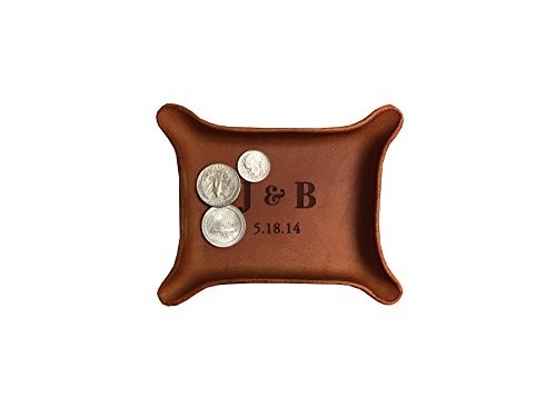 Leather Personalized Leather Catchall Tray (Small (3\
