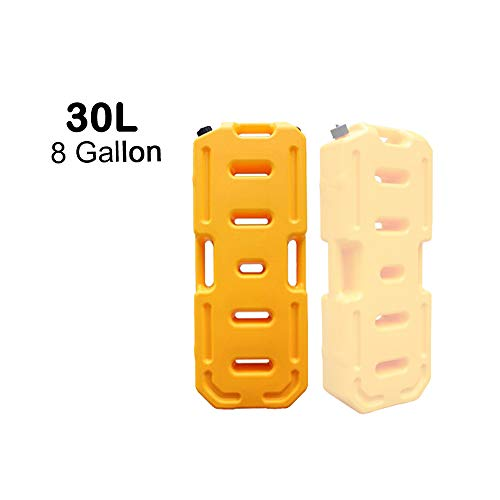- SXMA Fuel Tank Cans Spare 8 Gallon Portable Fuel Oil Petrol Diesel Storage Gas Tank Emergency Backup for Jeep JK Wrangler SUV ATV Car Motorcyc Toyota ect Most Cars (30L, Yellow)(Pack of 1)