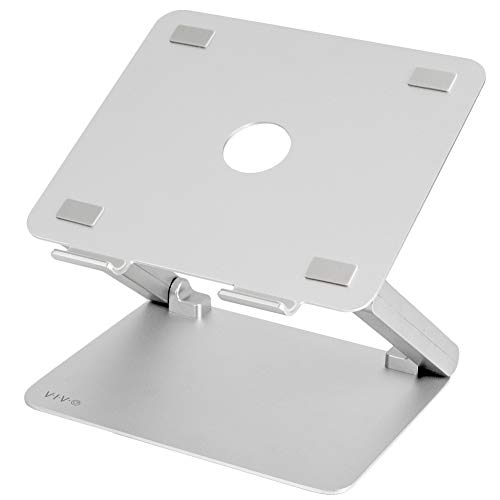 VIVO Universal Premium Aluminum Adjustable Laptop Notebook Desk Stand | Portable Ergonomic Tilting Tablet Riser for 11 to 17 inch Screens (STAND-V000W)