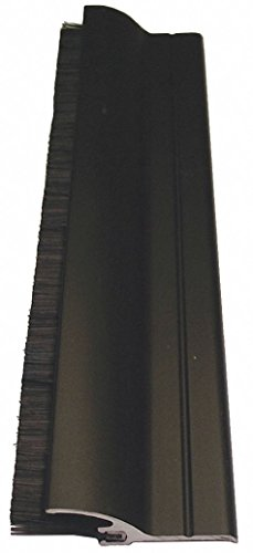 Door Sweep, Dark Bronze Aluminum, 36'' Length, 1-1/4'' Flange Height, 5/8'' Insert Size by Pemko