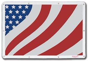 Belmor BS-86080AF-1 Patriotic USA Flag Bug Screen Truck Grille Cover for 1981-2018 Kenworth W900L