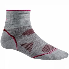 Socks Mini Light Outdoor (Smartwool mens Smartwool Ladies PhD Outdoor Ultra Light Mini Ankle Height Socks Grey Light Gray M - UK 5-7.5 (EU 38-41, US 7-9.5))