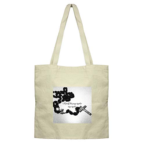A Family That Prays Together And Stays Together Cotton Canvas Flat Market Tote by Style In Print (Image #1)