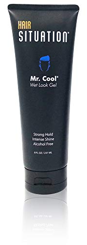 Mr Cool Wet Look Intense Shine Alcohol Free Hair Gel 8 FL OZ