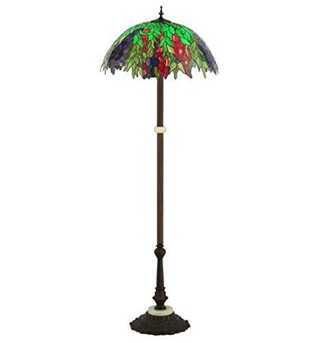 "Meyda Tiffany 122380 Honey Locust Floor Lamp, 63""H"
