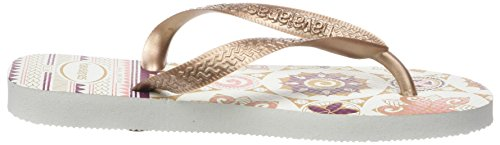 HavaianasSpring - Chanclas Mujer Rosa (White/Rose Gold/Rose Gold 8546)