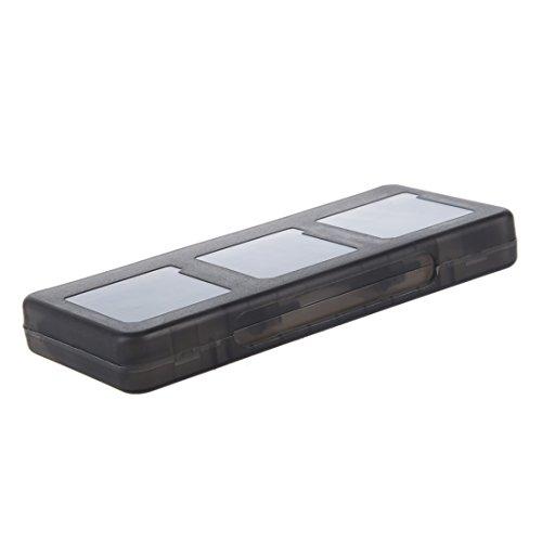SODIAL(R) 6 in 1 Black Game Case Holder Cartridge Box For Nintendo DS Lite DSi XL LL ()