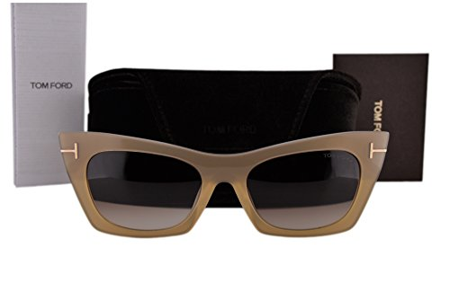 Tom Ford FT0459 Kasia Sunglasses Bronze w/Brown Gradient Lens 38F - Sunglasses Downey Robert