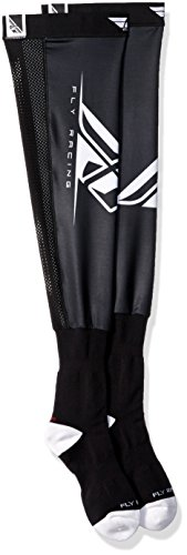 Fly Racing 350-0440L Unisex-Adult Knee Brace Socks (Black/White, Large/X-Large) by Fly Racing