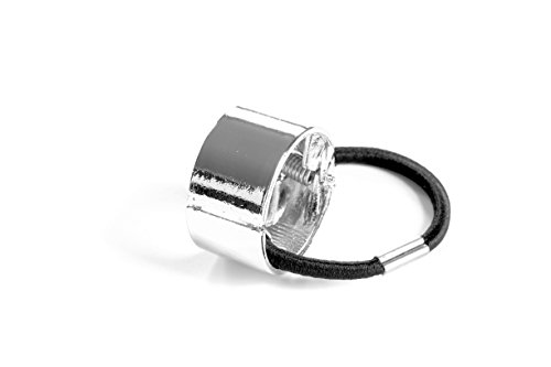 Metal Circle Hair Cuff Band Tie Elastic Ponytail Holder Hair Accessories Headband Silver/Gold /Rose Gold Plate (Silver)