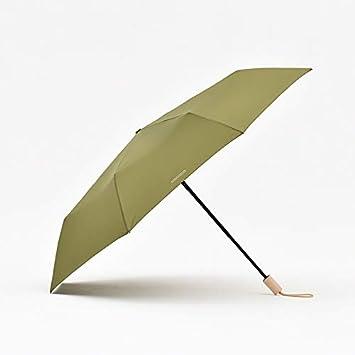 Xue-zhenghao Setenta por Ciento De Paraguas Plegable Paraguas Automático, Verde
