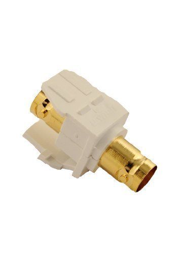 Leviton 40832-BW BNC QuickPort Adapter, Gold-Plated, (Leviton Bnc Adapter)