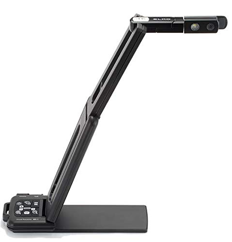Elmo 1357 Model MX-1 Visual Presenter, True 4K Imaging Quality at Up To 30 FPS, Powered by USB 3.0, Flexible, Quick Navigation Buttons, Zoom Control and Auto-focus, Base Magnetic Bottom, Black