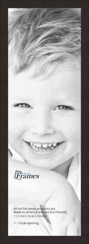 ArtToFrames 12x36 inch Black Coffee Picture Frame, 2WOM0066-76808-623-12x36