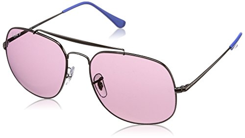 - Ray-Ban RB3561 The General Square Sunglasses, Gunmetal/Polarized Violet, 57 mm
