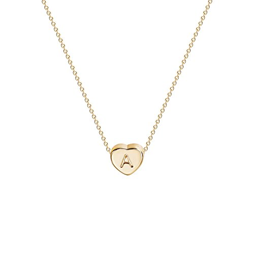 Name Gold Pendant (OSIANA Personalized Initial Necklace Tiny Gold Heart Pendant Letter Name Choker Friendship Chain for Women(alphabet:A))