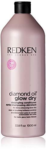 - Redken Diamond Oil Glow Dry Detangling Conditioner for Unisex, 33.8 Ounce