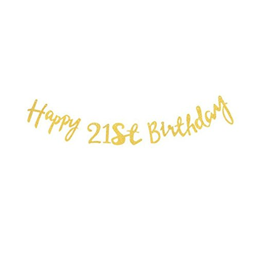 Rose Gold Happy Birthday Banner 18Th 21St 30Th 40Th 50Th Birthday Party Decorations Adult 30 40 50 Gold Party Decorations Gold 21th]()