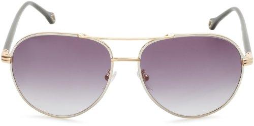Ermenegildo Zegna Sunglasses SZ3249--377 Aviator Sunglasses,Gold & Black,59 - Italy Wholesale Sunglasses Designer