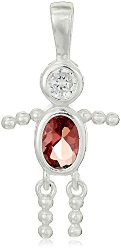 Sterling Silver AAA Cubic Zirconia Simulated Birthstone Babies Boy Charm, June