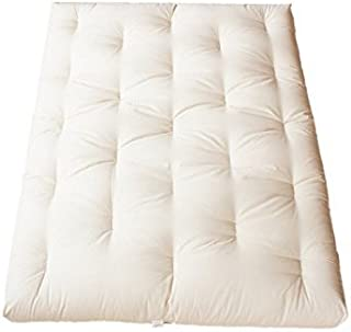 "product image for White Lotus Home GCW2FCDM07 Green Cotton and Wool with 2"" Foam Core Dreamton Mattress, 39x80x5-XL Twin 5"" Futon"