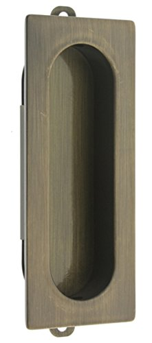 idh by St. Simons 25400-005 Professional Grade Quality Solid Brass Rectangular Flush Pull, Antique